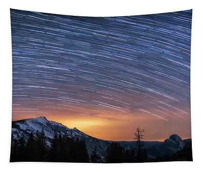 Olmstead Point Star Trails Tapestry