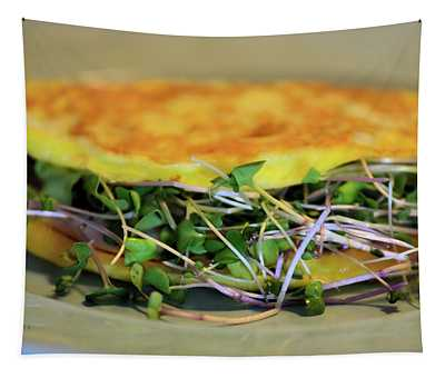 Omelette With Sprouts Tapestry