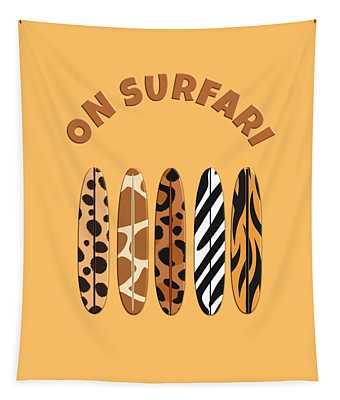 On Surfari Animal Print Surfboards  Tapestry
