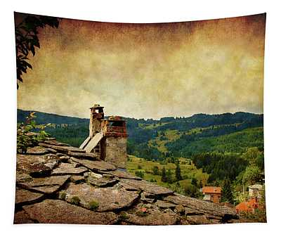On The Top Of The Mountain Tapestry