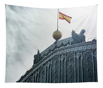 On Top Of The Puerta De Atocha Railway Station Tapestry