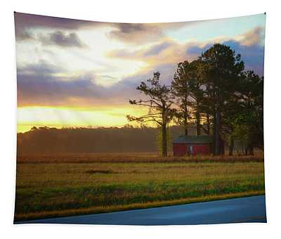 Onc Open Road Sunrise Tapestry