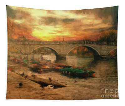 Once More To The Bridge Dear Friends Tapestry