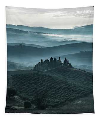 Tapestry featuring the photograph One Cold Day In Tuscany by Jaroslaw Blaminsky