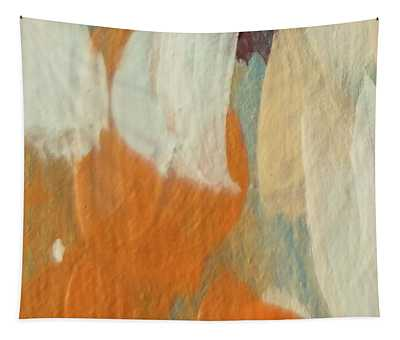 Tapestry featuring the painting Orange #2 by Maria Langgle