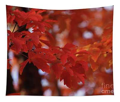 Orange And Red Fantasy Tapestry