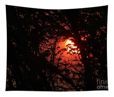 Orange Daybreak Tapestry