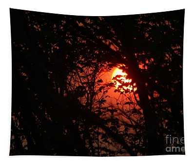 Orange Daybreak Tapestry