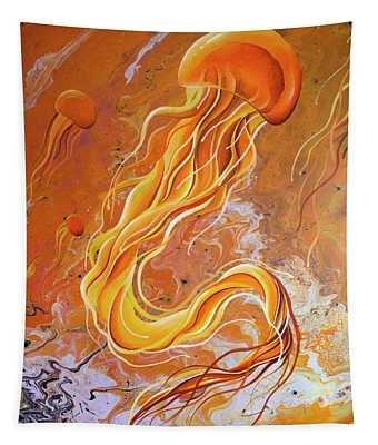 Orange Jelly Tapestry