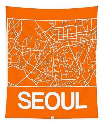 Orange Map Of Sao Paulo Tapestry