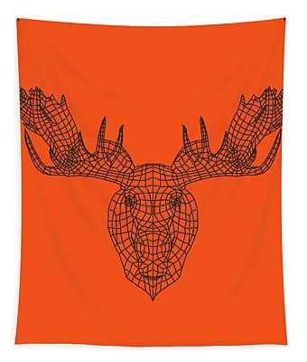 Orange Moose Tapestry