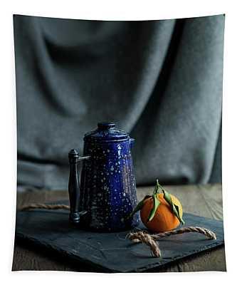Orange Tea Tapestry