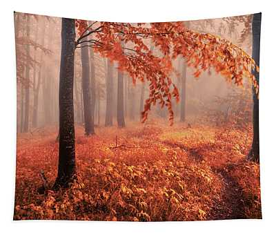 Orange Wood Tapestry