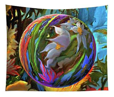 Orbing Aloha Lei Tapestry