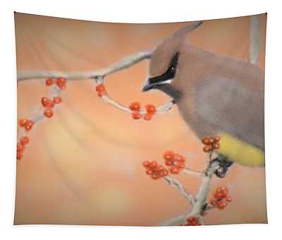 Orchard Waxwing Tapestry