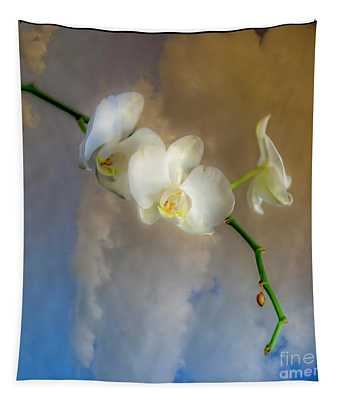 Orchid With Clouds Tapestry