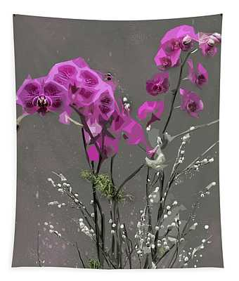 Orchids For Valentines Tapestry