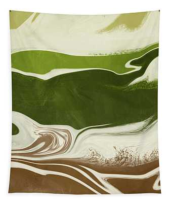 Organic Wave 2- Art By Linda Woods Tapestry