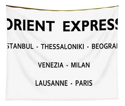 Orient Express, Train Station Sign, From Russia With Love, Ian Fleming Tapestry
