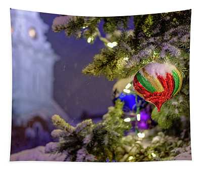 Ornament, Market Square Christmas Tree Tapestry