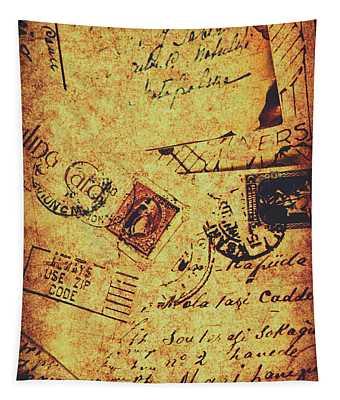 Ornate Postal Grunge Tapestry