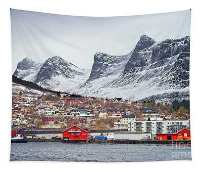 Ornes Village Norway Tapestry