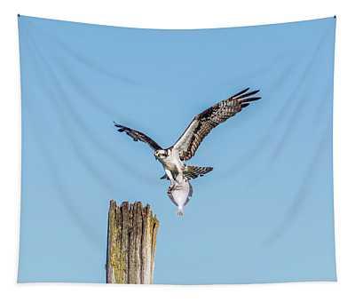 Osprey With Flatfish Tapestry