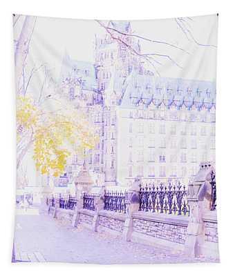Ottawa, Ontario, Canada - November 2018 - Confederation Building Tapestry