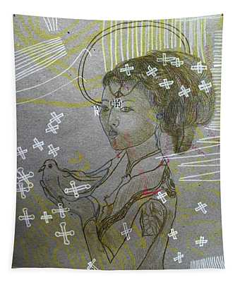 Our Lady Of Asia Queen Of Peace Tapestry