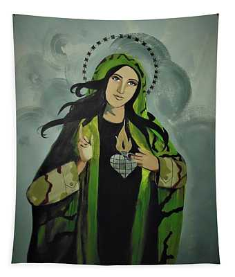 Our Lady Of Veteran Suicide Tapestry