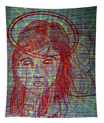 Ourlady Of Asia Divine Shepherdess Tapestry