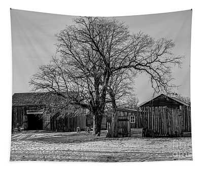Out In The Barn Yard Tapestry