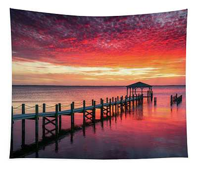 Outer Banks North Carolina Sunset Seascape Photography Duck Nc Tapestry