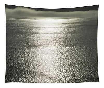 Pacific Ocean Fog Panorama Tapestry
