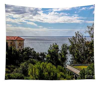 Pacific Ocean View From Jp Getty Villa California  Tapestry