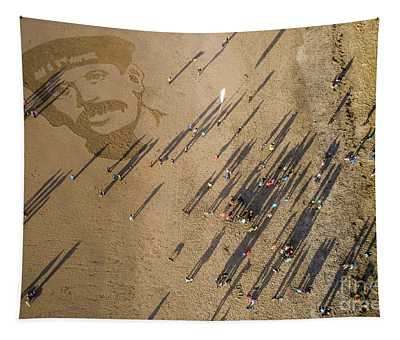 Pages Of The Sea - Ynyslas Beach Wales Tapestry