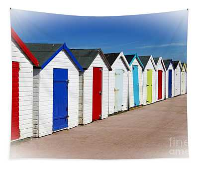 Paignton Beach Huts Tapestry