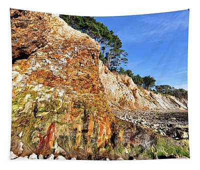 Painted Bluff At Ross Creek Beach Tapestry