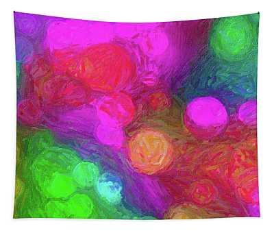 Painted Bokeh Impasto Pinkish Purple Tapestry