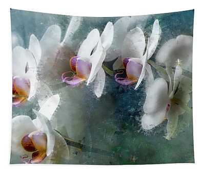 Painted Orchids Tapestry
