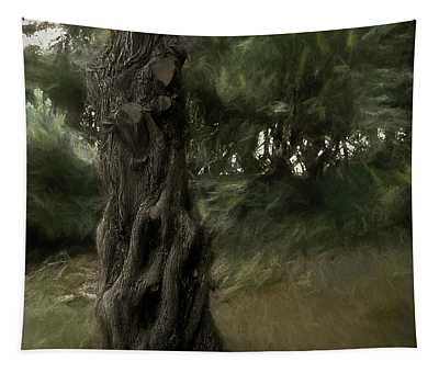 Painted Wind In The Cedar Tapestry
