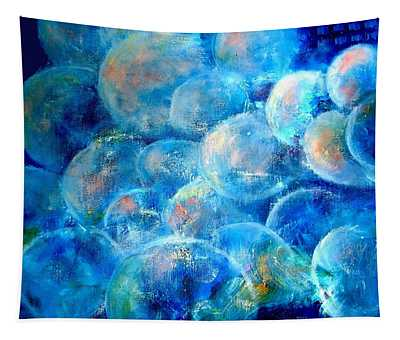 Painterly Bubbles Tapestry