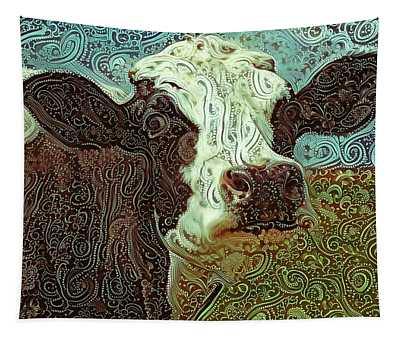 Paisley Cow At Pasture Tapestry