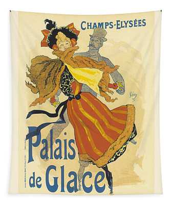 Palais De Glace Vintage French Advertising Tapestry