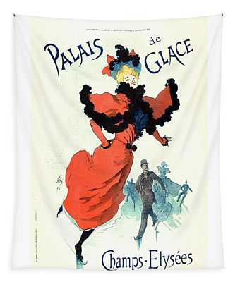 Palais De Glais 1895 Vintage French Advertising Tapestry
