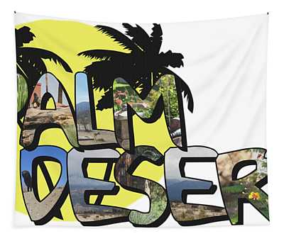 Palm Desert Large Letter With Moon Tapestry