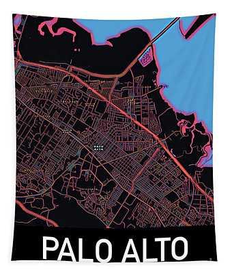 Palo Alto City Map Tapestry