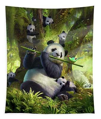 Pan Da Bear Tapestry