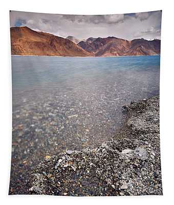 Tapestry featuring the photograph Pangong Tso by Whitney Goodey