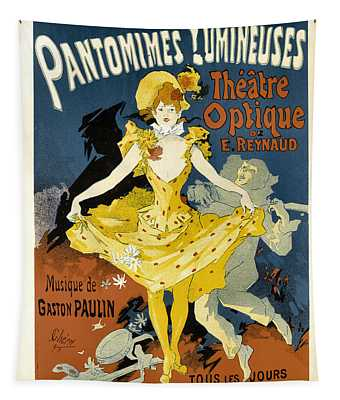 Pantomimes Lumineuses Vintage French Advertising Tapestry